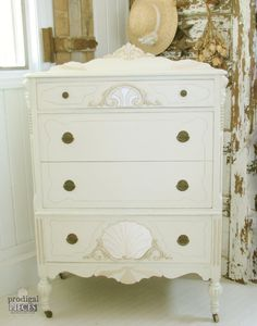 Exquisite Antique French White Highboy Chest of by ProdigalPieces