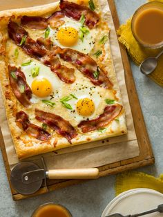 Breakfast Tart.  Looks good!...but I don't like my eggs that runny so I'd cook them a bit more toward medium.
