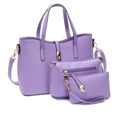 Sleek Buckle Handbag Set in Purple (3pc-set), 23% discount @ PatPat Mom Baby Shopping App