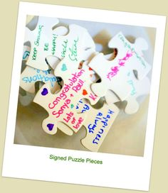 Unique Wedding Guest Book Puzzle made from by GuestBookPuzzles