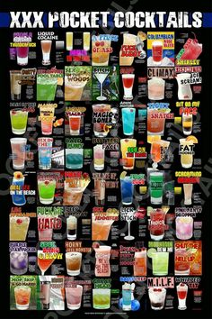 Party Drinks, Fun Drinks, Yummy Drinks, Alcoholic Drinks, Beverages, Bartender Drinks, Liquor Drinks, Party Cups, Cocktail Book