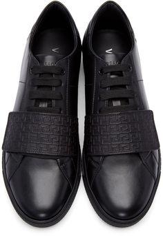 Versace - Black Greek Key Sneakers