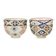 Bring stunning prints to the dinner table with this set of Mosaic bowls from Pols Potten. Beautifully hand painted, these ceramic bowls feature classic multicoloured mosaic inspired designs. Perfect f