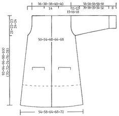 """DROPS 75-23 - Lange oder halblange DROPS Jacke mit Taschen in """"Eskimo"""" - Free pattern by DROPS Design"""