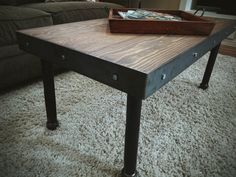 Industrial/Vintage Coffee Table by StruxureSupplyCo on Etsy