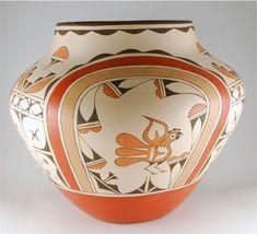Native American Massive Traditional Zia Pottery Storage Jar by Ruby Panana, #793