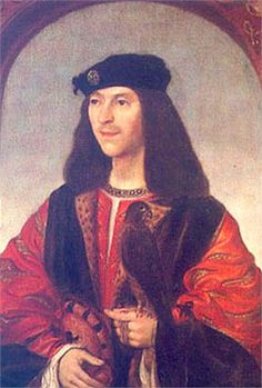 JAMES IV of SCOTLAND STUART * 2nd COUSIN.   Despite his defeat and death in the battle of Flodden in 1513, James IV was a gifted king. From his first marriage to HENRY VII of England's daughter were descended the Stuart kings who, by inheriting the English and Scottish thrones, united them