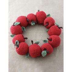Faux Fruit Wreath Decor   AllFreeCrochet.com