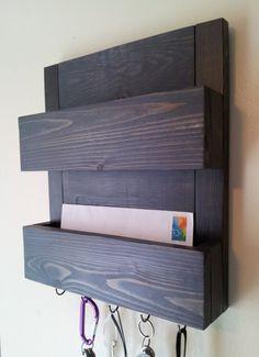 Mail And Key Rack Two Pocket Organizer By Cedaroaks 53 00 Etsy