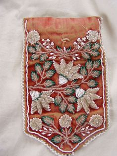 Indian Souvenir Beadwork Iroquois sewing kit housewife very fine