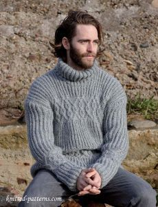 9e160b6d6c931 Cable sweater for men s knitting pattern free Mens Knit Sweater Pattern