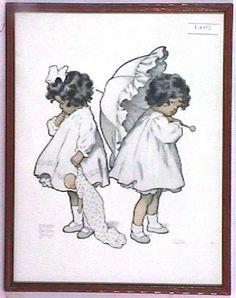 "Bessie Pease Gutmann, Illustrator, ""Falling Out"", circa 1905."