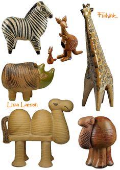 More Lisa Larson Ceramics Ceramic Animals, Clay Animals, Safari Animals, Pottery Sculpture, Sculpture Clay, Art Carved, Clay Figures, Ceramic Design, Animal Sculptures