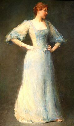The Blue Dress by Thomas Dewing (1892) by Alaskan Dude, via Flickr