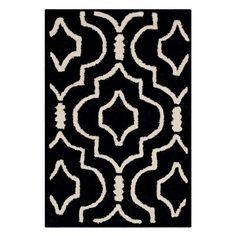 Safavieh Cambridge CAM141 Indoor Area Rug Black / Ivory - CAM141E-6SQ
