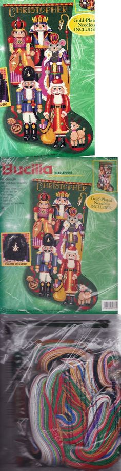 Needlepoint Kits 3109: Bucilla Nutcracker Suite Soldier Santa Christmas Needlepoint Stocking Kit 60777 -> BUY IT NOW ONLY: $374.95 on eBay!