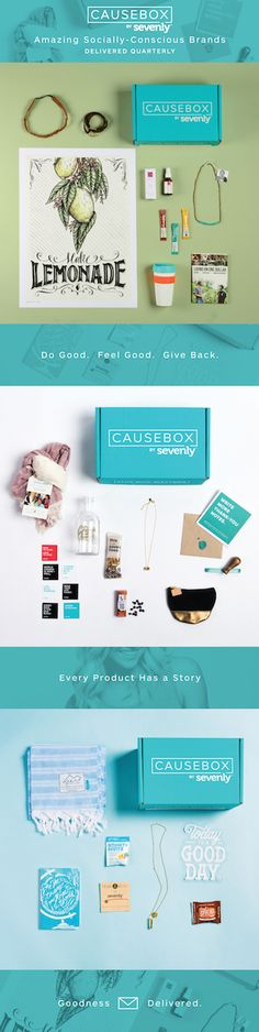 #‎CAUSEBOX03 has been getting rave reviews! || Every product gives back, empowers people, and has a story. || Find out more at causebox.sevenly.org