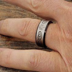 Shamrock Black Signet Rings Celtic Wedding Bands, Black Tungsten Rings, Tungsten Carbide, Signet Ring, Black Rings, Rings For Men, Polish, St Pats, Metals