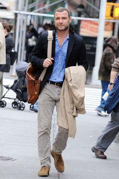 Liev Schreiber Out in NYC