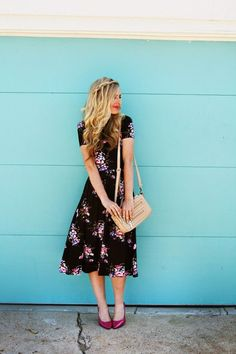 Floral Patterned Dress - Hair Inspiration