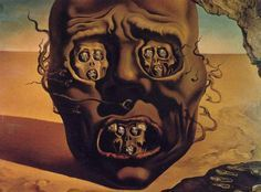 Psycho Loosers Cool Horror Art: La cara de la guerra aka The  face of war (Salvador Dalí, 1940)