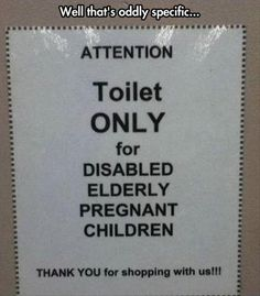 toilet signs - Dump A Day