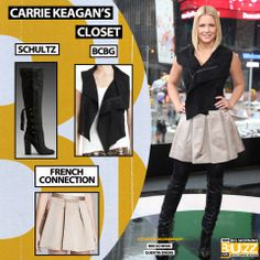 Vest: BCBG Maxazria Fabian Faux-Suede Vest - $178 Skirt: French Connection Skirt - Gogo Moments - $148 Boots: Schutz Aiyana Boots - $308 Chelsea Lately, Fox News Channel, Red Eyes, Get The Look, Carry On, Actresses, In This Moment, Womens Fashion, Skirts