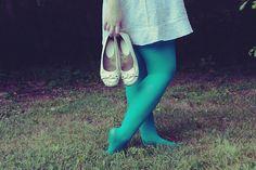 teal fairy legs