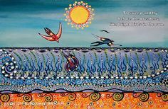 A thing of beauty is a joy forever: Bronwyn Bancroft Water Patterns, Aboriginal Artists, Sea Monsters, Day For Night, Pattern Art, Amazing Art, Illustrators, Creepy, Illustration Art