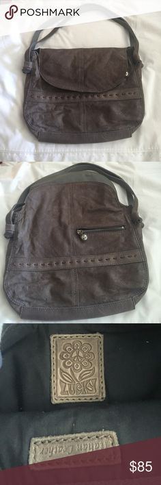 Lucky Brand Soft Leather Slouchy Shoulder Bag Gray Lucky Brand Soft Leather Slouchy Shoulder Bag Gray. Perfect Brand New Condition! Italian Leather! Please don't hesitate to ask any questions! :) Lucky Brand Bags Shoulder Bags