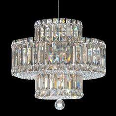 Design Your Own Schonbek Plaza Collection 9-Light Crystal Pendant Chandelier