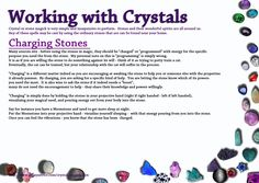 Charging Crystals - working with your Crystals - The Goddess is Alive and Magic is Afoot!  Remember to program your stones with your positive intensions.