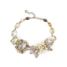 bcbg floral bouquet statement necklace