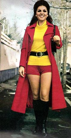 Hot pants in were women's shorts in the 70s. Although it was seen some in the 60s, the 70s is when the style really started to become accepted.
