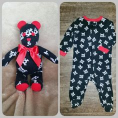 Baby Outgrows His Little Onesie - Then Mom Transforms It Into An Adorable Teddy . Baby Outgrows His Little Onesie - Then Mom Transforms It Into An Adorable Teddy Bear Keepsake Baby Outg. Pyjamas, Used Baby Clothes, Onesies, Baby Sleepers, Cute Stuffed Animals, Baby Grows, Cute Babies, Romper, Teddy Bear