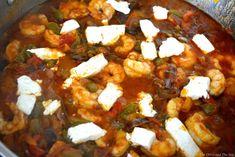Γαρίδες σαγανάκι με φέτα | Συνταγές - Sintayes.gr Feta, Curry, Ethnic Recipes, Curries