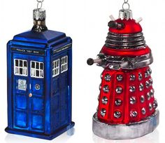 tardis and dalek christmas ornaments