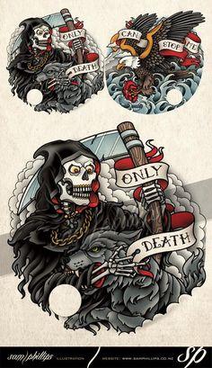 Grim Reaper Tattoo - Sam Phillips - Artist . Illustrator . Graphic Designer