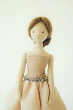 Cloth doll / ballerina / one of a kind / handmade by Willowynn