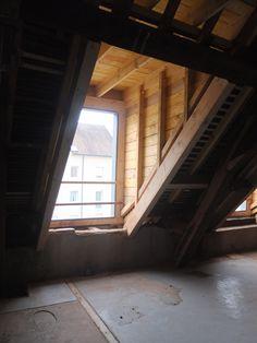 Réhabilitation de logements I Création d'un chien assis bois I Châlon-sur-Soane I Espace mansardé I Zoomfactor Architectes