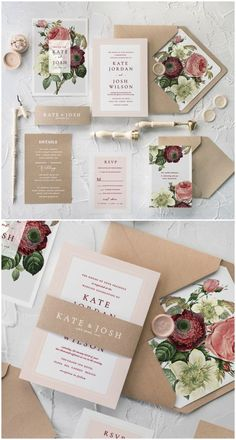 We're ready to drive best trends into the world of weddings of 2018! Floral designs combined with beautiful and romantic calligraphy printing, envelope's liner and paper belly band. Botanical collection is already in! #wedding #weddinginvitation