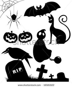 451 Best Halloween Silhouettes Images On Pinterest