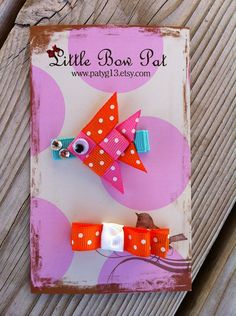 Dottie the Angel FishRibbon Sculptures Set by patyg13 on Etsy, $4.50