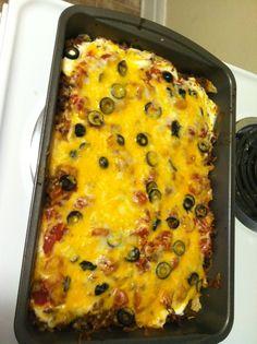 Mexican casserole! It was delicious!
