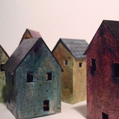 Miniature Abandoned House - sculpture. Simplicity I love!  Makes me think of a wee house by Veronica DeRosa.