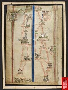 Itinerary to Jerusalem; Matthew Paris, Historia Anglorum, Chronica majora, pt III; English (St Albans), 1250-1259