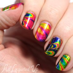 OPI Color Paints Nail Art - Water Marble via @alllacqueredup