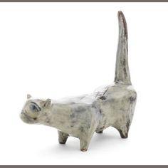 david hockney....earthenware cat .1955