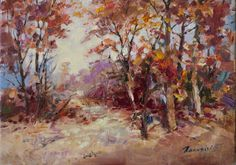 Landscape by Bogdan Goloyad 18x24 cm oil on by BogdanGoloyadArt