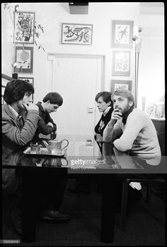 English post-punk band Joy Division in an art and furniture shop, Manchester, 6th January 1979. Left to right: drummer Stephen Morris, singer Ian Curtis (1956 - 1980), guitarist Bernard Sumner and bassist Peter Hook.